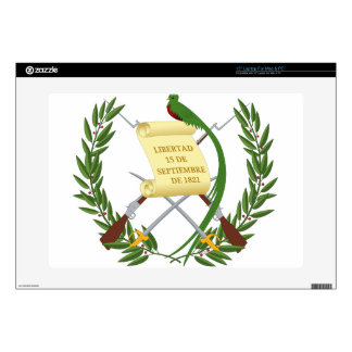 "Escudo de armas de Guatemala - Coat of arms 15"" Laptop Skins"