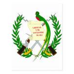 Escudo de armas de Guatemala Postales