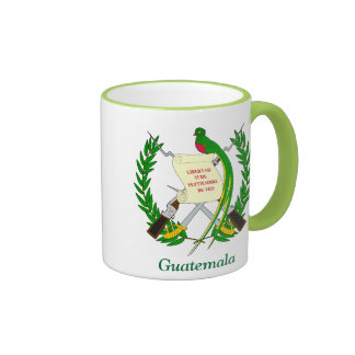 Escudo de armas de Guatemala Taza A Dos Colores