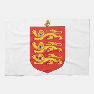 Escudo de armas de Guernesey Toallas De Cocina