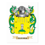 Escudo de armas de Guerra (escudo de la familia) Postales