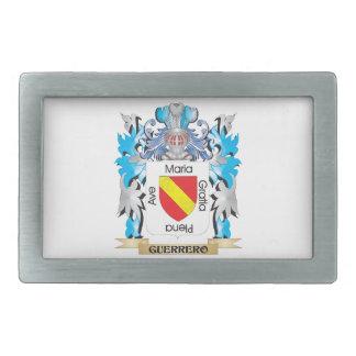 Escudo de armas de Guerrero - escudo de la familia Hebilla De Cinturon Rectangular