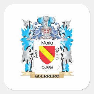Escudo de armas de Guerrero - escudo de la familia Colcomanias Cuadradass