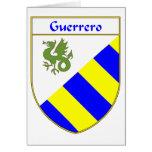 Escudo de armas de Guerrero/escudo de la familia Tarjeta