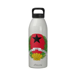 Escudo de armas de Guinea-Bissau Botella De Agua Reutilizable