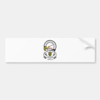 Escudo de armas de GUNN Etiqueta De Parachoque