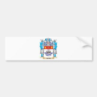 Escudo de armas de Gunn - escudo de la familia Pegatina Para Coche