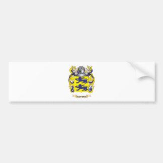Escudo de armas de Gunn (escudo de la familia) Etiqueta De Parachoque
