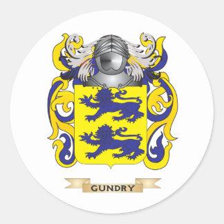 Escudo de armas de Gunn (escudo de la familia) Pegatina Redonda