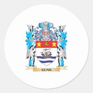 Escudo de armas de Gunn - escudo de la familia Pegatina Redonda