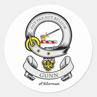 Escudo de armas de GUNN Pegatina Redonda