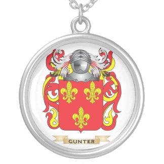 Escudo de armas de Gunter (escudo de la familia) Colgante Redondo