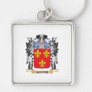 Escudo de armas de Gunter - escudo de la familia Llavero Cuadrado Plateado