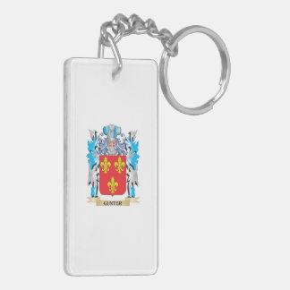 Escudo de armas de Gunter - escudo de la familia Llavero Rectangular Acrílico A Doble Cara