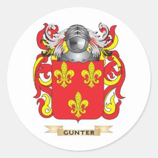Escudo de armas de Gunter (escudo de la familia) Pegatina Redonda
