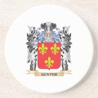 Escudo de armas de Gunter - escudo de la familia Posavasos Manualidades