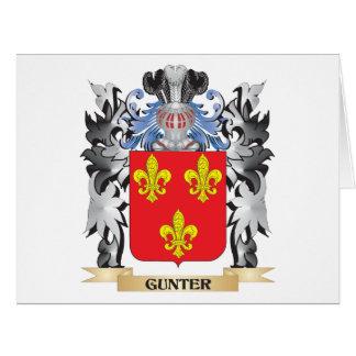 Escudo de armas de Gunter - escudo de la familia Tarjeta De Felicitación Grande