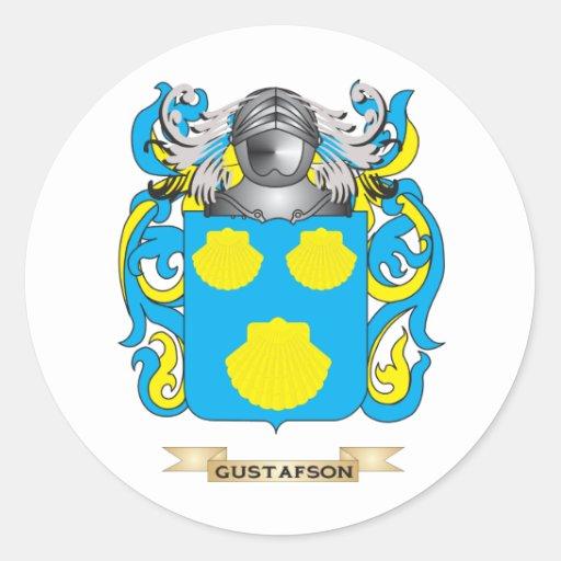 Escudo de armas de Gustafson (escudo de la Pegatinas Redondas