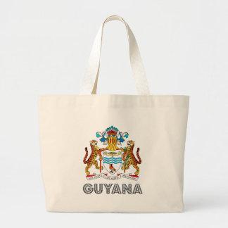 Escudo de armas de Guyana Bolsa Tela Grande