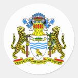Escudo de armas de Guyana Etiqueta Redonda