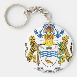 Escudo de armas de Guyana Llavero Redondo Tipo Pin