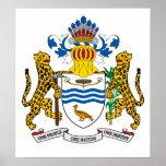Escudo de armas de Guyana Poster