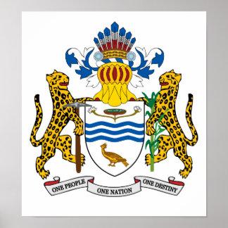Escudo de armas de Guyana Póster