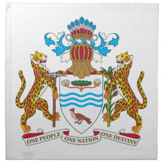 Escudo de armas de Guyana Servilletas De Papel
