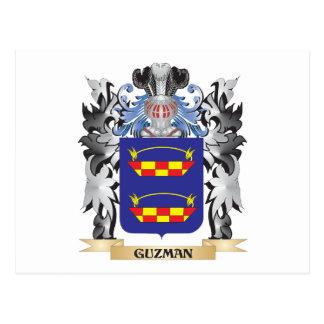 Escudo de armas de Guzman - escudo de la familia Tarjeta Postal