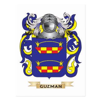 Escudo de armas de Guzman (escudo de la familia) Tarjetas Postales