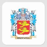 Escudo de armas de Hackwell - escudo de la familia Pegatina Cuadrada