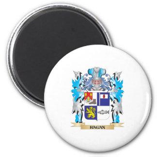Escudo de armas de Hagan - escudo de la familia Imán Para Frigorífico