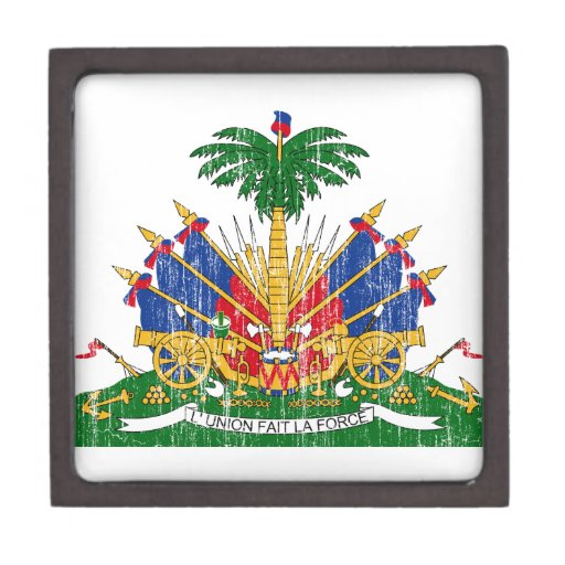 Escudo de armas de Haití Cajas De Recuerdo De Calidad
