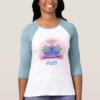 Escudo de armas de Haití, colores haitianos de la Tee Shirts