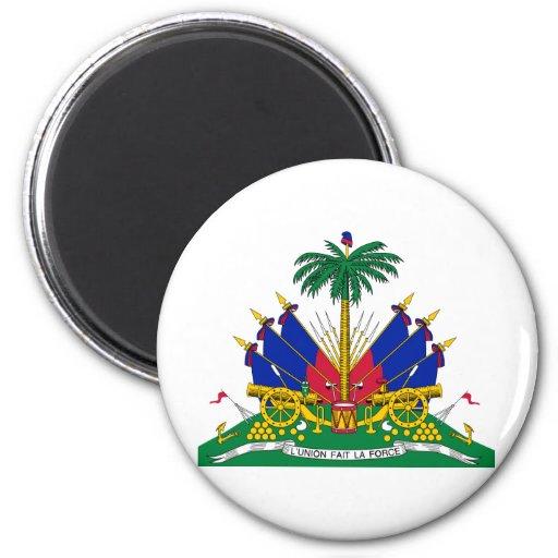 Escudo de armas de Haití Imán Redondo 5 Cm
