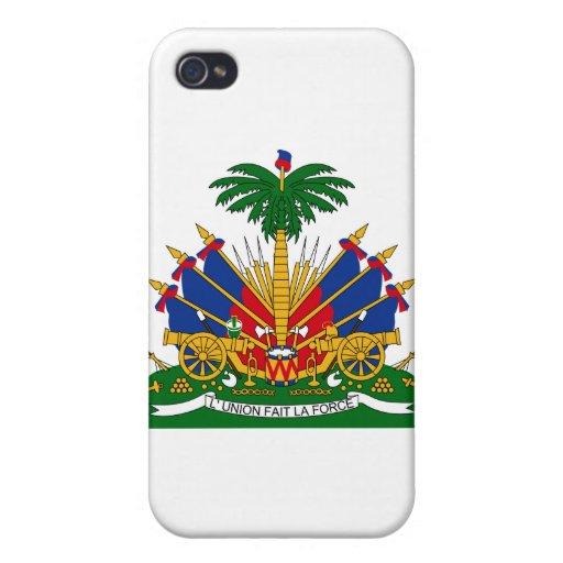 Escudo de armas de Haití iPhone 4/4S Fundas