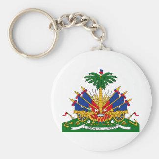 Escudo de armas de Haití Llavero Redondo Tipo Pin