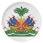 Escudo de armas de Haití Plato De Comida