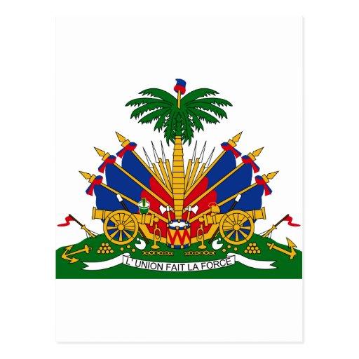 Escudo de armas de Haití Postales