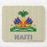 Escudo de armas de Haití Tapete De Ratón