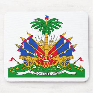 Escudo de armas de Haití Tapetes De Ratones