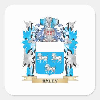 Escudo de armas de Haley - escudo de la familia Etiqueta