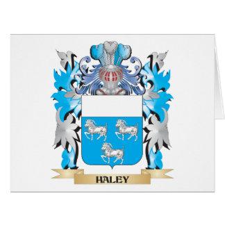 Escudo de armas de Haley - escudo de la familia Felicitaciones