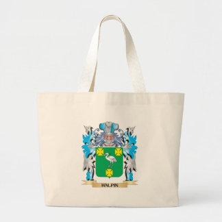 Escudo de armas de Halpin - escudo de la familia Bolsas Lienzo