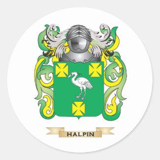 Escudo de armas de Halpin (escudo de la familia) Pegatina Redonda
