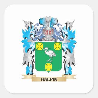 Escudo de armas de Halpin - escudo de la familia Calcomanias Cuadradas