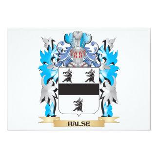 """Escudo de armas de Halse - escudo de la familia Invitación 5"""" X 7"""""""