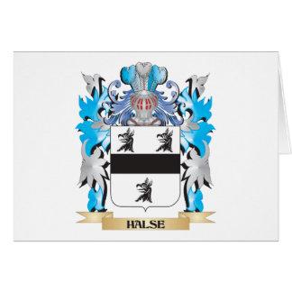 Escudo de armas de Halse - escudo de la familia Tarjeta Pequeña