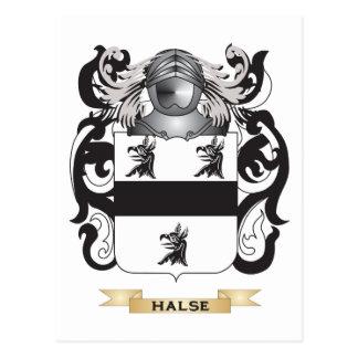 Escudo de armas de Halse (escudo de la familia) Postal