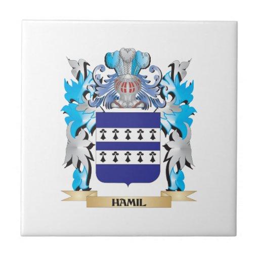 Escudo de armas de Hamil - escudo de la familia Azulejos Ceramicos